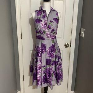 Cece's New York lilac floral dress size 6